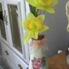 Papel Giftware Half Vase, Clear Glass Flower Holder and Flowers #301683