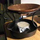 Black Metal and Copper Aroma Candle Melt Warmer with  Tealight  #301700