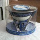 Fondue Au Chocolate Set Blue and White NEW #301705