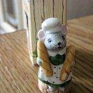 "6566 Li'l Mouse Town Baker Mouse Figurine 1 3/4"" Tall Russ #301715"