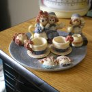 Adorable Raggedy Ann & Andy Miniature Tea Set of Ten Pieces #301753