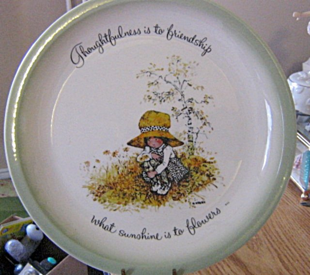American Greetings Holly Hobbie 1970s Collector Plate Thoughtfulness is to Friendship... #301760