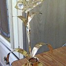 Brass Crystal Flower Butterfly Candleholder #301767