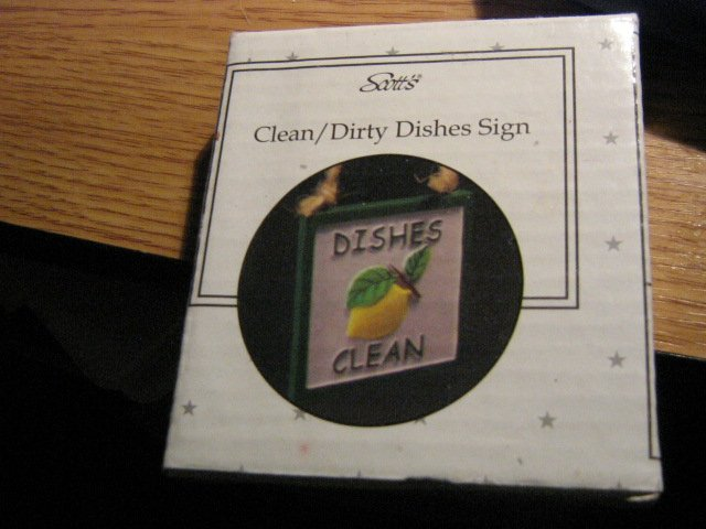 Scott's Clean/Dirty Dishes Sign #301788