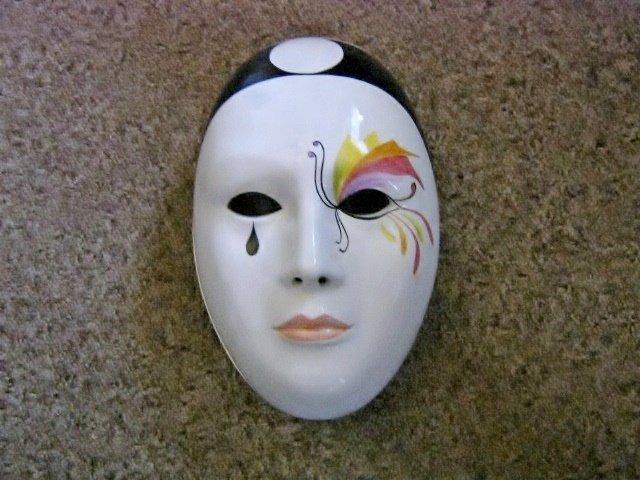 Vintage Franco Zarri Profumerie Porcelain Mask Container for Soap or Potpourri #301911