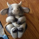 Adorable Vintage Smiling and Sleeping Bull Figurine #301919