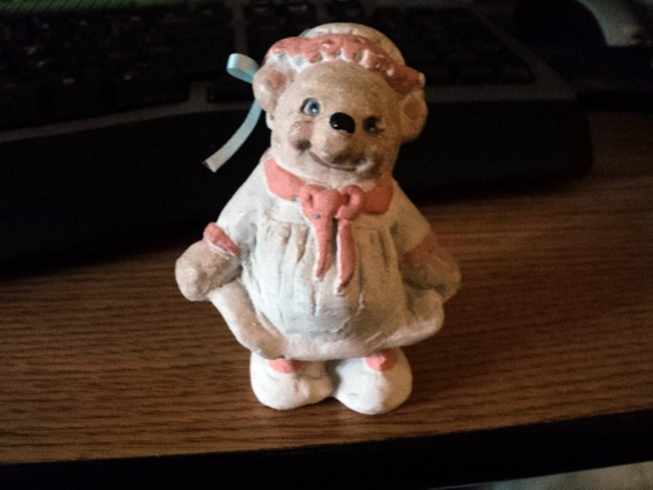 1991 Dreamsicles Little Girl Bear Heavenly Critters Figurine Signed Kristin #301939