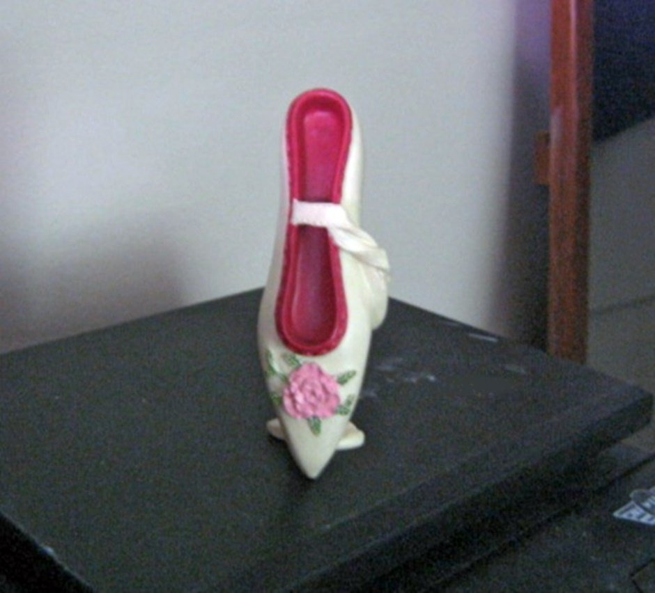 Beautiful Cream and Rose Pink Ballet Shoe Figurine #301786