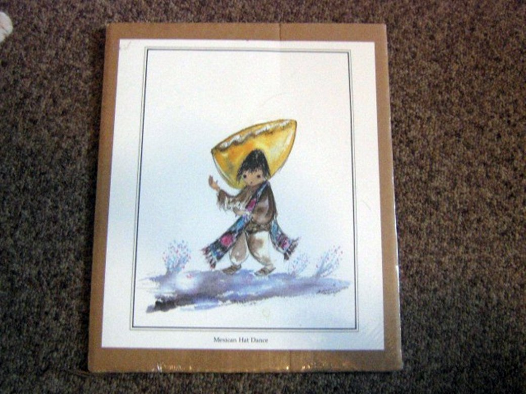 Ted DeGrazia Print Mexican Hat Dance Signed 1970 in Arizona USA  #301698