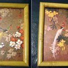 Framed Asian Tropical Birds and Flowers Prints  #300681