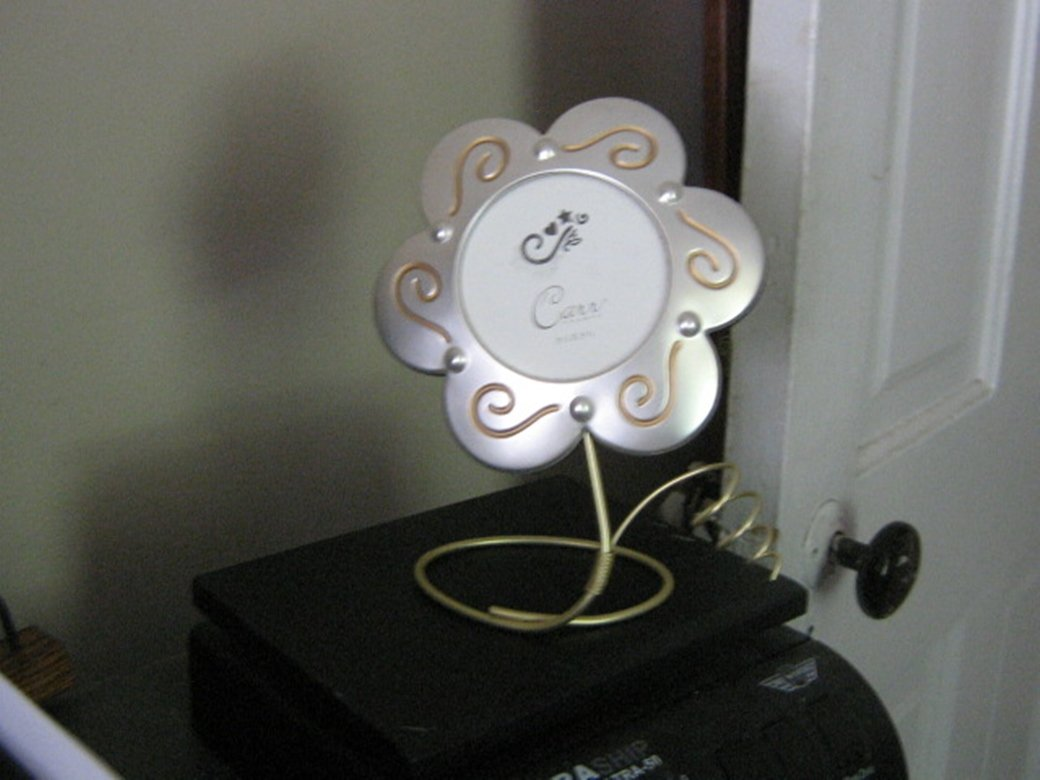 Silver Tone Metal Flower Picture Frame by Carr #301915