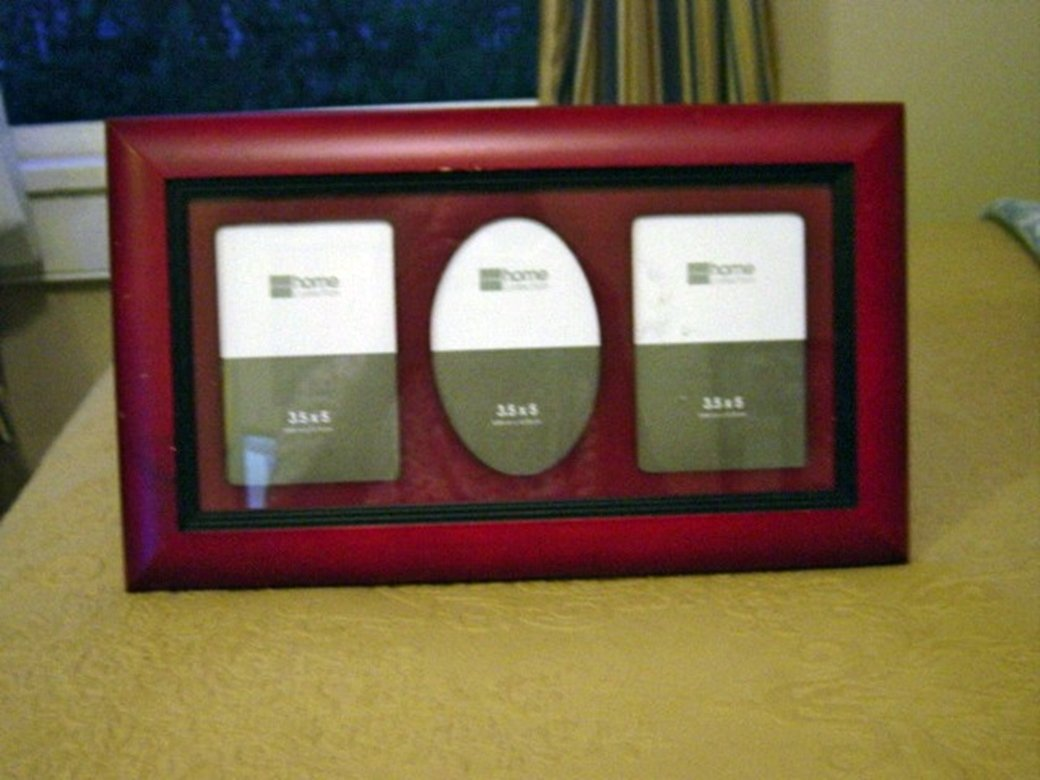 Large Wooden Picture Frame with Three  Picture Mat #301358