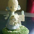 1989 Precious Moments Plastic Enesco Picnic Girl Figurine #300656