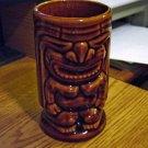 Dark Brown Angry God Tiki Glass Mug at Periwinkles #301342