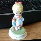 1986 Hand Painted My ABC's Little Girl Avon Figurine by Joan Walsh Anglund #301958