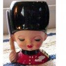 Queens Guard Canadian Mountie Soldier Head Vase Inarco #300167