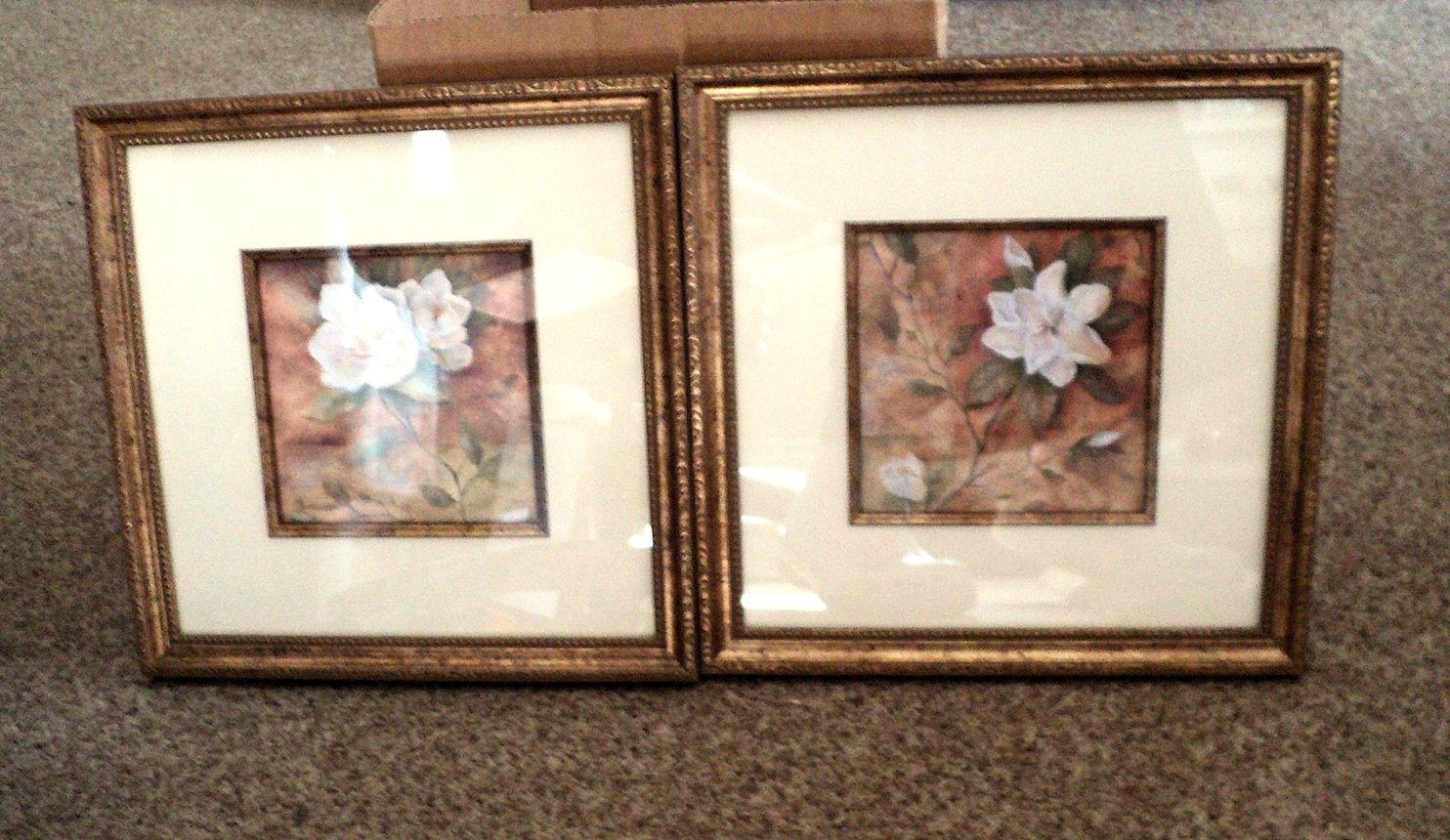 Two New Framed White Rose Pictures #301973