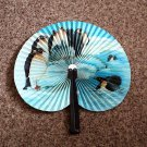 Vintage China Penguin Pocket Fan Made By Zhe Jiang Arts & Crafts Paper and Metal #301982