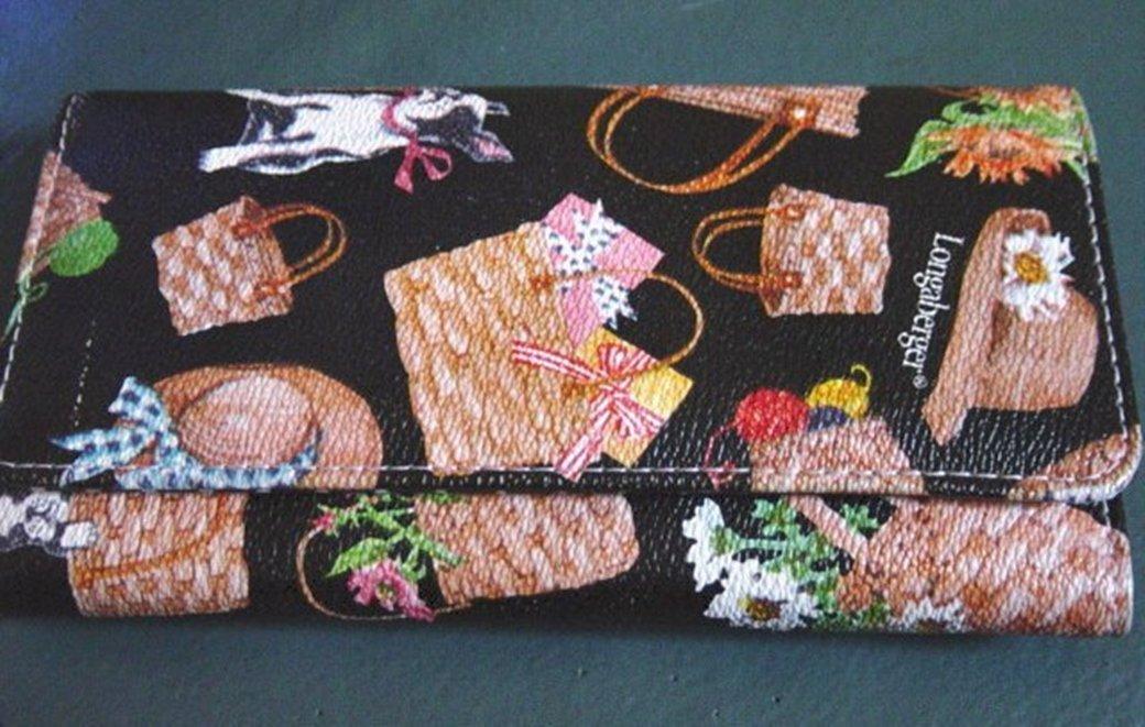 Longaberger Homesteads Baskets and Pets Wallet #302011