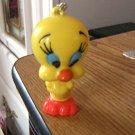 "Adorable 3"" Vintage Warner Bros Tweety Bird Keychain  #302031"