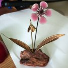 Vintage Collectible Handcrafted Bovano of Cheshire Pink Enamel Flower #302040