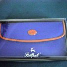 Blue and Brown Vinyl Billpak Caro Billfold NIB #302079