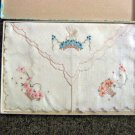 Vintage Imported Novelty Cotton Embroidered Handkerchiefs in Original Box #302123