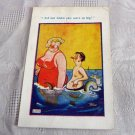 Vintage Naughty British English risque comic cartoon Unused Postcard #302151