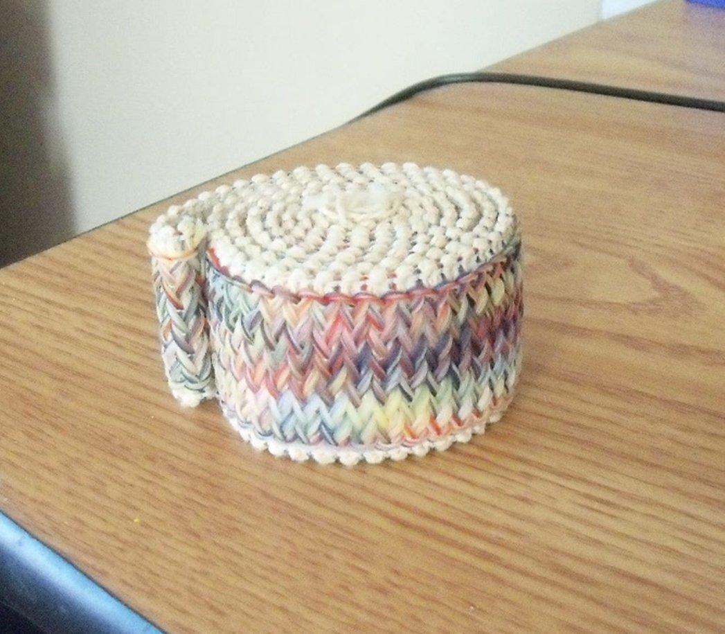 Vintage 60s Pastel Colors Woven Stretchable Trim  #302163