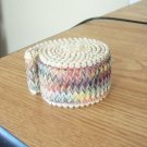 Vintage 60s Pastel Colors Woven Stretchable Trim  #302163