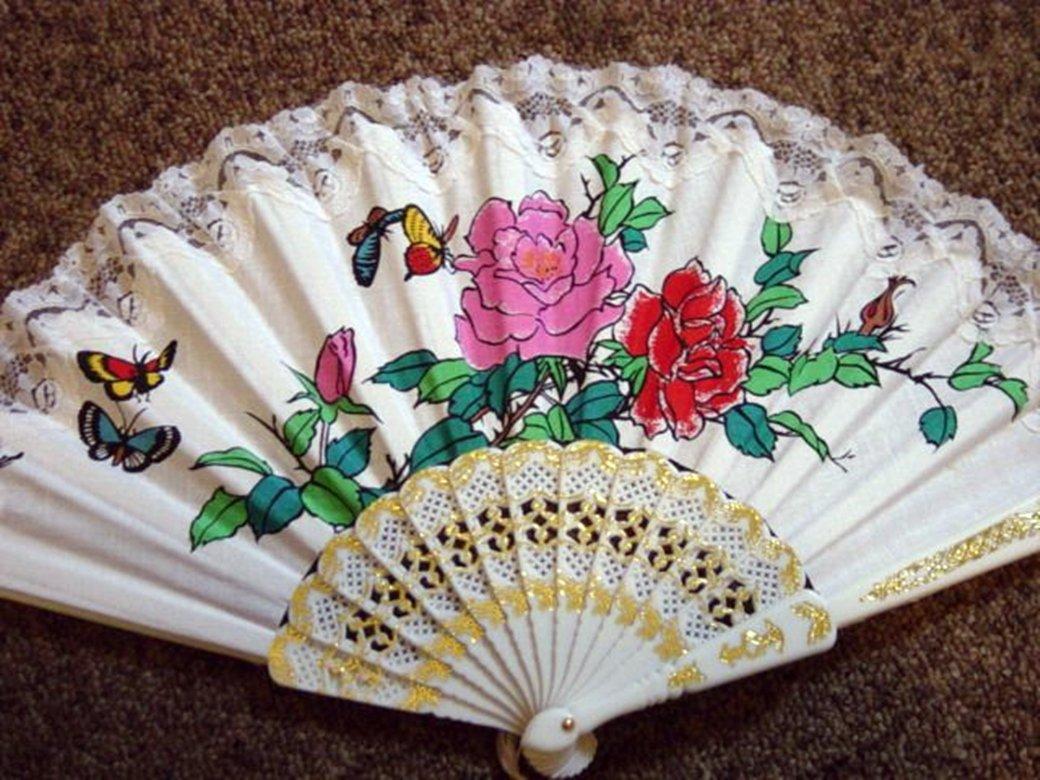 Folding Hand Fan Linen Chinese Classical Scent Fan Asian Oriental #302167