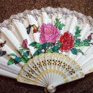 Folding Hand Fan Linen Chinese Classical Scent Fan Asian Oriental #302167