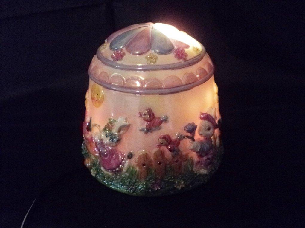 Bin Teh Handicraft Co. Spring Easter Small Rabbit Lamp Colored Lights #302205