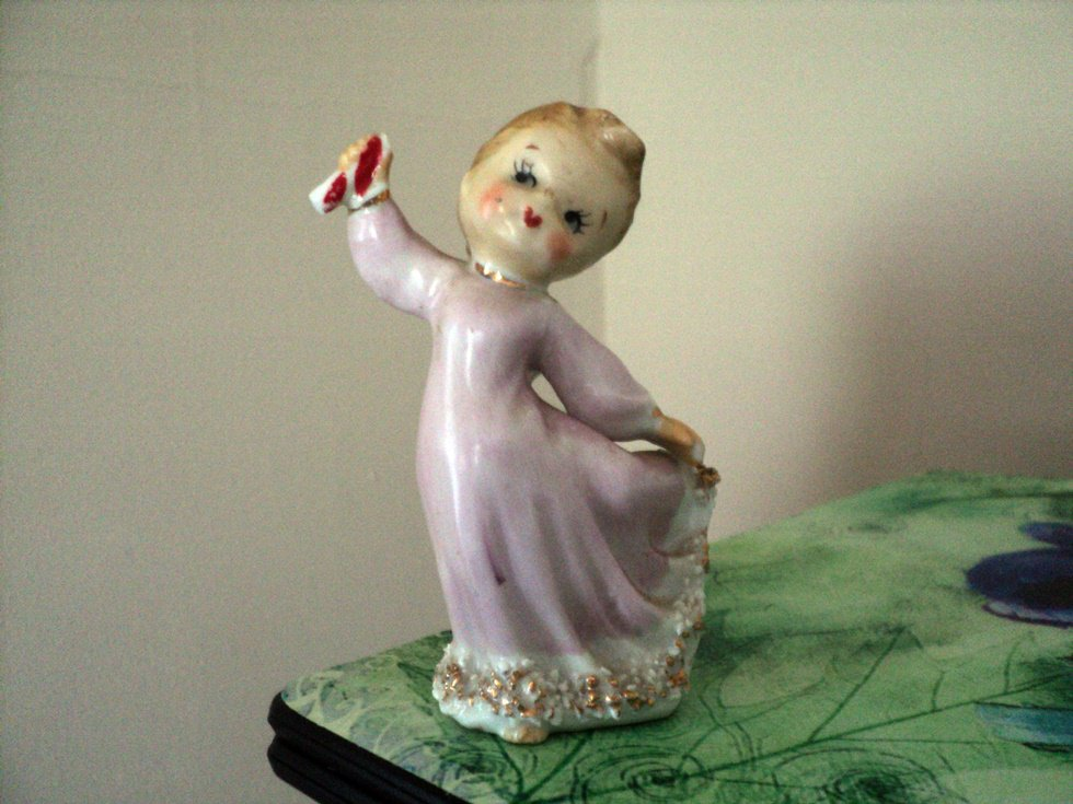 Vintage Dancing Lefton Angel Girl Figurine #302222