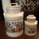 McCoy Porcelain Canister Milk Can Set of Two #302251