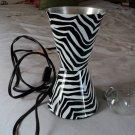 BLACK WHITE ZEBRA LAVA MOTION LAMP REPLACEMENT BULB and BASE MEDIUM 6.5 x 3.5 #302252