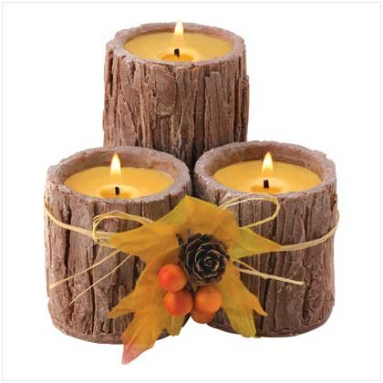 TRIPLE-WICK BARK CANDLE