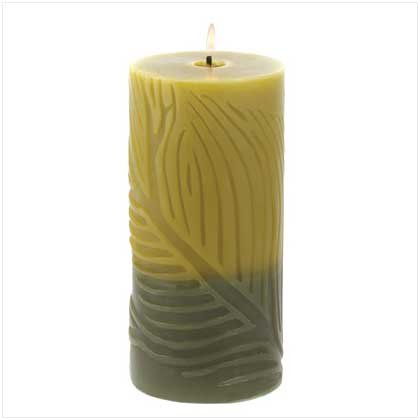 FOLIOLE ROUND PILLAR CANDLE