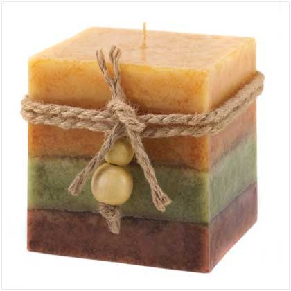 GOLDEN SPICE SQUARED CANDLE