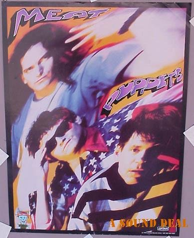 MEAT PUPPETS No Joke! '95 Promo POSTER Texas Cow Punk