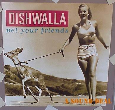 DISHWALLA '95 PET YOUR FRIENDS POSTER BIKINI CHEESECAKE
