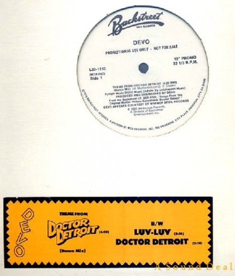 "DEVO HTF '83 DJ 12"" THEME FROM DOCTOR DETROIT + LUV-LUV"