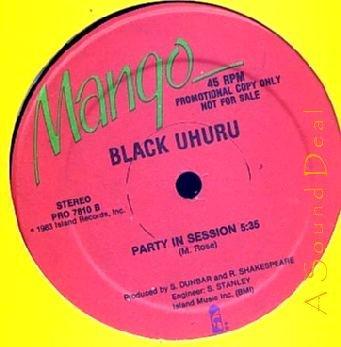 "BLACK UHURU '83 DJ PRO REMIX 12"" REGGAE PARTY NEXT DOOR"
