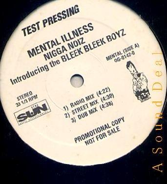 "MENTAL ILLNESS RARE RANDOM '94 12"" NIGGA NOIZ AMAZIN'S"