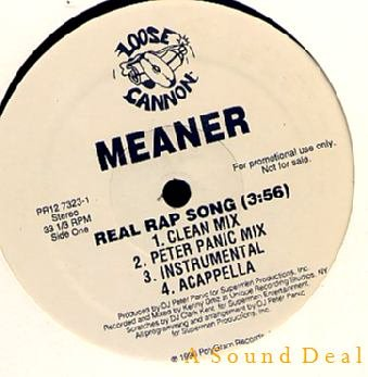 """MEANER LOOSE CANNON DJ 1-SIDE12"""" + PRESS REAL RAP SONG"""