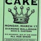 CAKE ORIGNL ST PATRICK'S OK '97 CONCERT HANDBILL POSTER