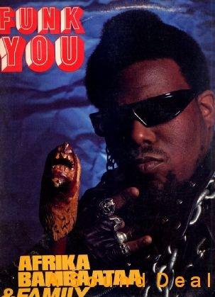 "AFRIKA BAMBAATAA FUNK YOU! ORIGINAL '85 TOMMY BOY 12"""