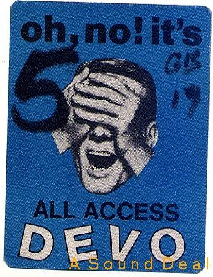 DEVO Oh No It's Devo Backstage Pass 1982 DADDY ZERO