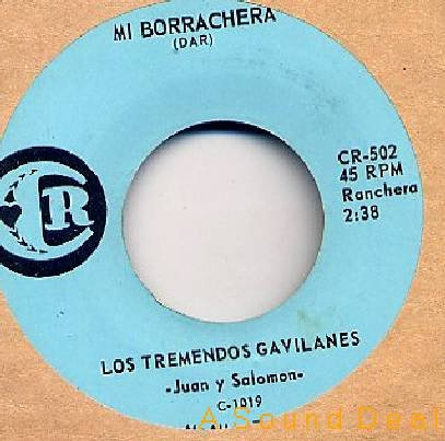 "LOS TREMENDOS GAVILANES CR 7"" TEX-MEX TEJANO BORRACHERA"