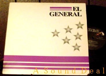 """EL GENERAL HTF DJ PROMO '92 PS 12"""" EL MAESTRO REGGAETON"""